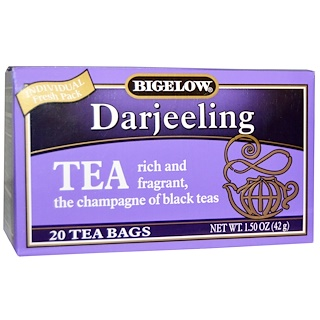 Bigelow, Darjeeling, 20 Tea Bags, 1.50 oz (42 g)