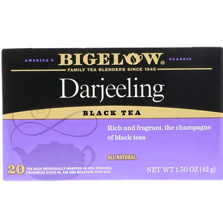 Bigelow, Darjeeling Black Tea, 20 Tea Bags, 1.50 oz (42 g)