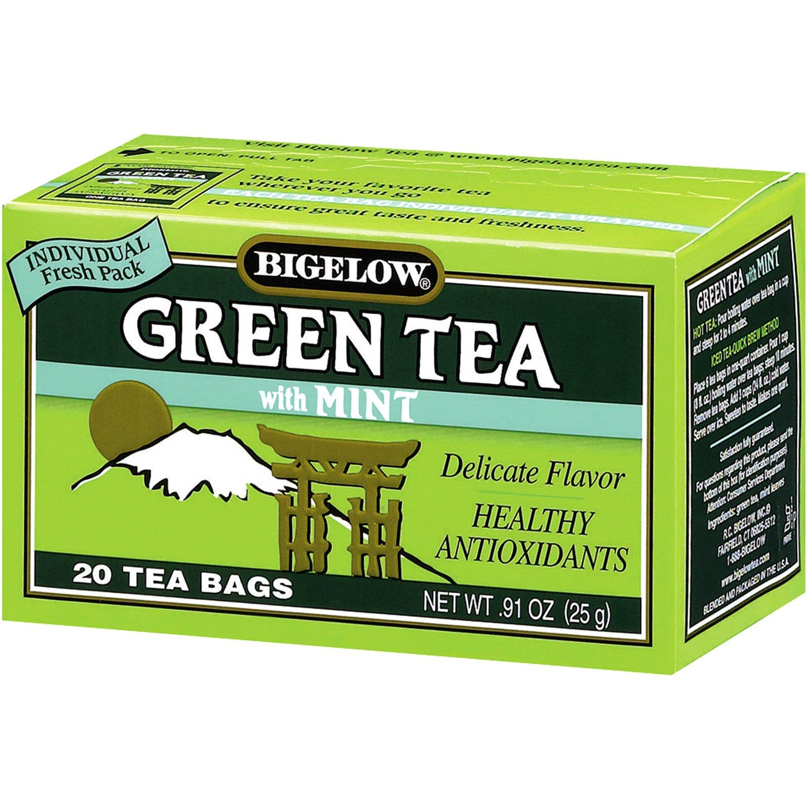 Bigelow, Green Tea with Mint, 20 Tea