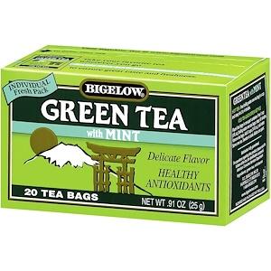 Бигелоу, Green Tea with Mint, 20 Tea Bags, 0.91 oz (25 g) отзывы