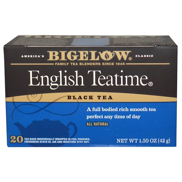 Bigelow, English Teatime, 20 Tea Bags, 1.50 oz (42 g) (Discontinued Item)