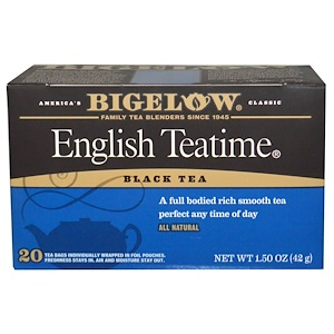 Бигелоу, English Teatime, 20 Tea Bags, 1.50 oz (42 g) отзывы