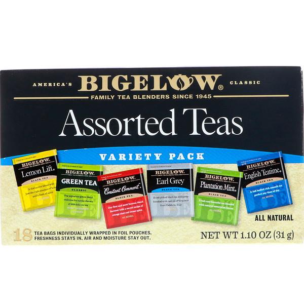Bigelow, Assorted Teas, Variety Pack, 18 Tea Bags, 1.10 oz (31 g) (Discontinued Item)