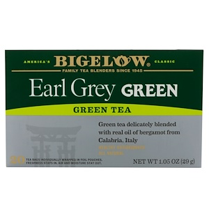 Бигелоу, Early Grey Green Tea, 20 Tea Bags, 1.05 oz (29 g) отзывы