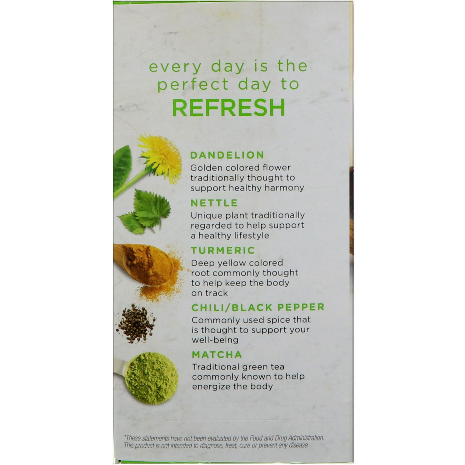 bigelow, benefits, refresh, turmeric chili matcha green tea