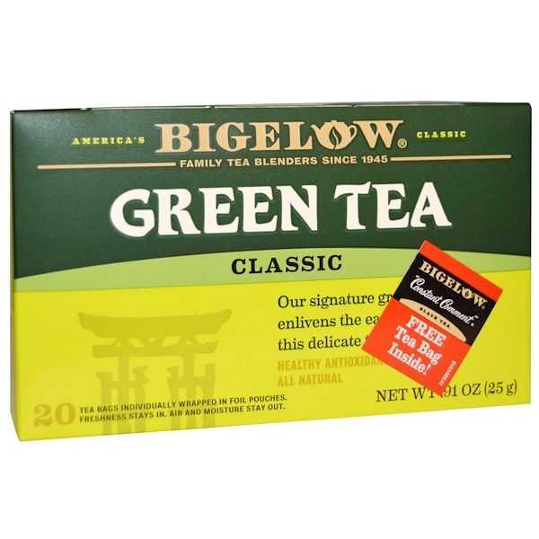Bigelow, Green Tea, Classic, 20 Tea Bags, 0.91 oz (25 g) (Discontinued Item)