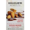 Bigelow, Benefits, Good Mood, Chocolate & Almond Herbal Tea, 18 Tea Bags, 1.44 oz (40 g)