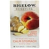 Bigelow, Calm Stomach, Té herbal de jengibre y durazno, 18 bolsas de té, 1,35 oz (38 g)