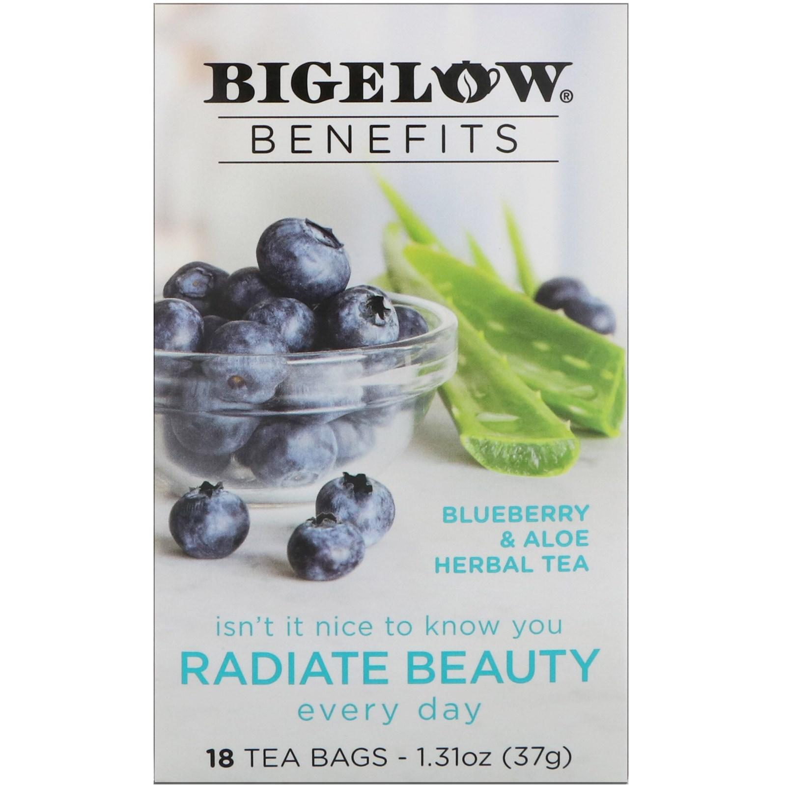 Bigelow, Benefits, Radiate Beauty, Blueberry & Aloe Herbal
