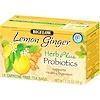 Bigelow, ハーブ・プラス・プロバイオティクス、レモンジンジャー、カフェインフリー、 ティーバッグ18個、 1.39オンス (39 g)