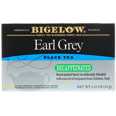 Эрл грей, без кофеина, черный чай, 20 чайных пакетиков, 1,18 унц. (33 г) benefits обновление куркума чили матча зеленый чай 18 чайных пакетиков 1 15 унц 32 г