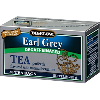 Bigelow, Earl Grey, Decaffeinated, 20 Tea Bags, 1.18 oz (33 g)