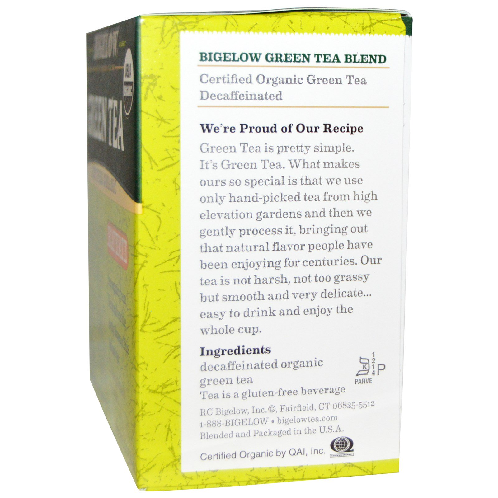 Organic Green Tea, Decaffeinated