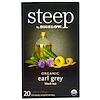 Bigelow, Steep, Bio Earl Grey Schwarz Tee, 20 Teebeutel, 1.28 oz (36 g)