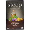 Bigelow, Steep, Black Tea, Organic Earl Grey, 20 Tea Bags, 1.28 oz (36 g)