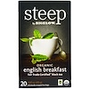 Bigelow, Steep, Black Tea, Organic English Breakfast, 20 Tea Bags, 1.60 oz (45 g)