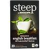 Bigelow, Steep, Bio Englischer Schwarzer Frühstückstee, 20 Teebeutel, 1.60 oz (45 g)