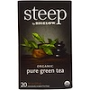 Bigelow, Steep, Organic Pure Green Tea, 20 Tea Bags, 0.91 oz (25 g)