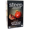 Bigelow, Steep, Organic Green Tea with Pomegranate, 20 Tea Bags, 1.28 oz (36 g)