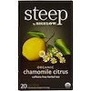 Bigelow, Steep, Organic Chamomile Citrus Herbal Tea, Caffeine Free, 20 Tea Bags, 1 oz (28 g)
