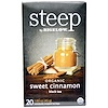 Bigelow, Steep, Black Tea, Organic Sweet Cinnamon, 20 Tea Bags, 1.60 oz (45 g)