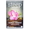 Bigelow, Steep, Herbal Tea, Organic Rooibos Hibiscus, 20 Tea Bags, 1.60 oz (45 g)