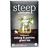 Bigelow, Steep, Organic Oolong & Jasmine Green Tea, 20 Tea bags, 1.28 oz (36 g)