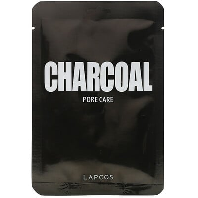 Купить Lapcos Charcoal Sheet Mask, Pore Care, 1 Sheet, 0.84 fl oz (25 ml)
