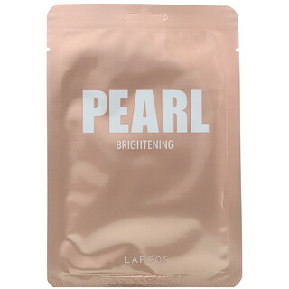 Lapcos, Daily Skin Beauty Mask Pearl, Brightening, 5 Sheets, 0.81 fl oz (24 ml) Each
