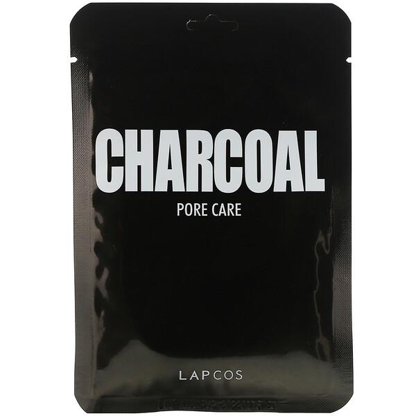 Daily Beauty Skin Mask Charcoal, Pore Care, 5 Sheets, 0.84 fl oz (25 ml) Each