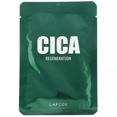 Купить Lapcos Cica, восстанавливающая тканевая маска, 1шт., 30мл (1, 01жидк.унции)