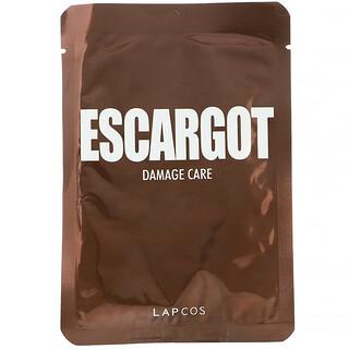 Lapcos, Escargot Sheet Beauty Mask, Damage Care, 1 Sheet, 0.91 fl oz (27 ml)