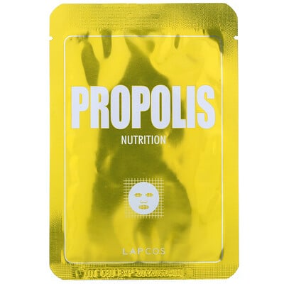 Купить Lapcos Propolis Sheet Mask, Nutrition, 1 Sheet, 0.84 fl oz (25 ml)