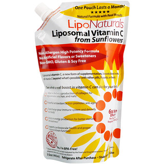 Lipo Naturals, Liposomal Vitamin C From Sunflowers, 15 oz (443 ml)