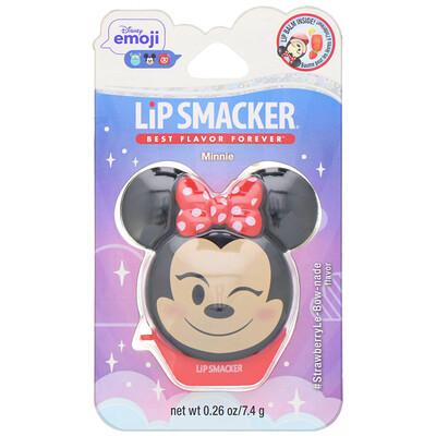 Lip Smacker Disney Emoji, Minnie, бальзам для губ, клубничный, 7, 4г (0, 26 унции)  - купить со скидкой