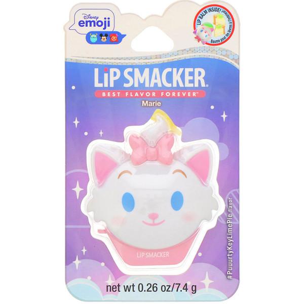 Lip Smacker, DisneyEmoji, Baume à lèvres, Marie, Parfum tarte au citron vert, 7,4g