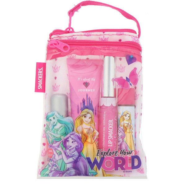 Lip Smacker, Disney Princess Glam Bag, 4 Pieces