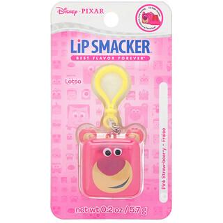 Lip Smacker, Pixar Cube Lip Balm, Lotso, Pink Straw-bear-y, 0.2 oz (5.7 g)