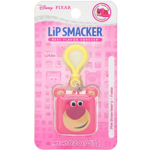 Pixar Cube Lip Balm, Lotso, Pink Straw-bear-y, 0.2 oz (5.7 g)