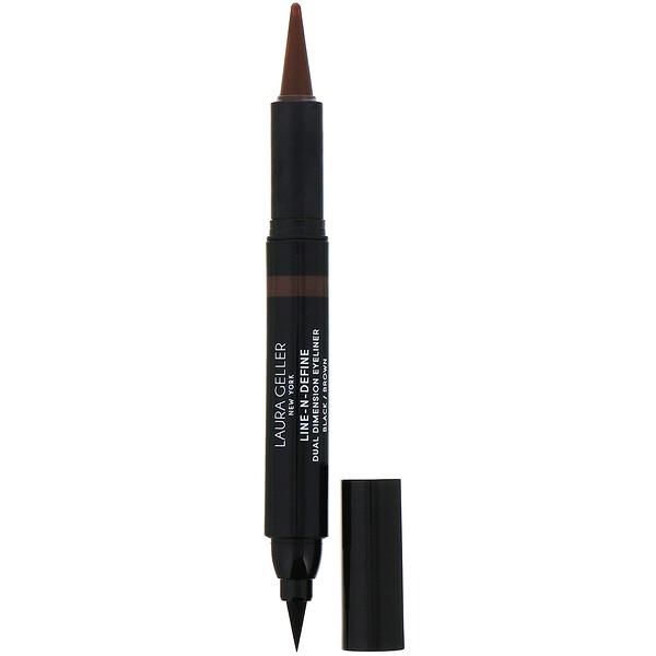 Line-N-Define, Dual Dimensional Eyeliner, Liquid & Kohl Eyeliner, Black/Brown, 0.07 fl oz (2 ml) / 0.017 oz (0.5 g)