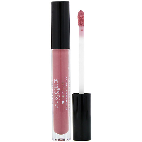 Nude Kisses, Lip Hugging Lip Gloss, Barely There,  0.10 fl oz (2.9 ml)