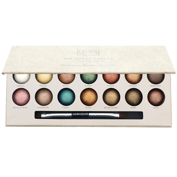 Laura Geller, The Delectables Eye Shadow Palette, Delicious Shades of Nude, 14 Well Palette (Discontinued Item)