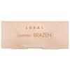 Lorac, Unzipped Brazen Eye Shadow Palette with  Dual-Ended  Brush, 0.37 oz (10.5 g)
