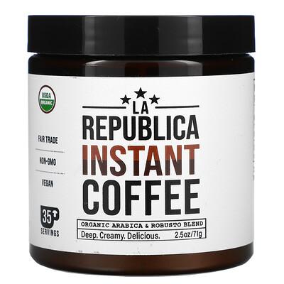 Купить LA Republica Instant Coffee, Organic Arabica & Robusto Blend, 2.05 oz (71 g)