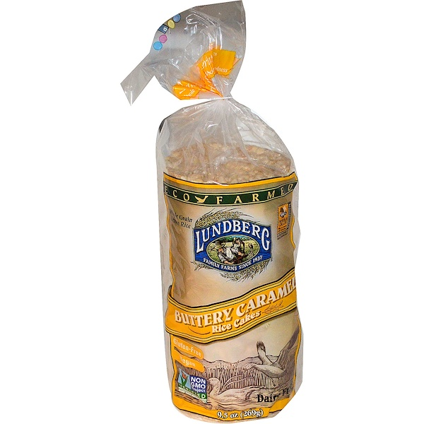 Lundberg, Buttery Caramel Rice Cakes, 9.5 oz (269 g) (Discontinued Item)