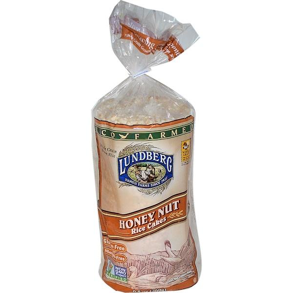 Lundberg, Honey Nut Rice Cakes, 9.5オンス (269 g) (Discontinued Item)