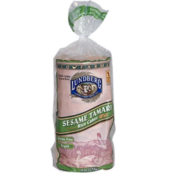 Lundberg, Sesame Tamari Rice Cakes, 9 oz (255 g) (Discontinued Item)