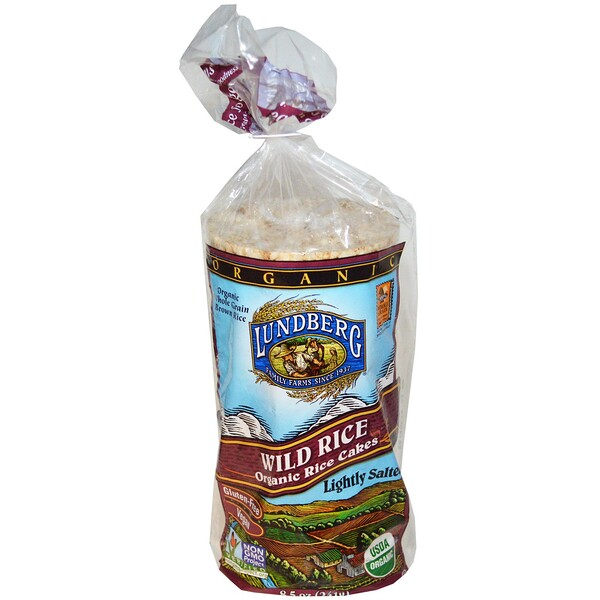 Lundberg, Wild Rice, Organic Rice Cakes, Lightly Salted, 8.5 oz (241 g) (Discontinued Item)