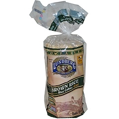 Lundberg, ブラウンライス, ライスケーキ, 無塩, 8.5 oz (241 g)