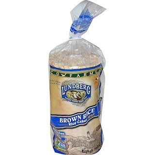 Lundberg, Brown Rice Rice Cakes, Lightly Salted, 8.5 oz (241 g)
